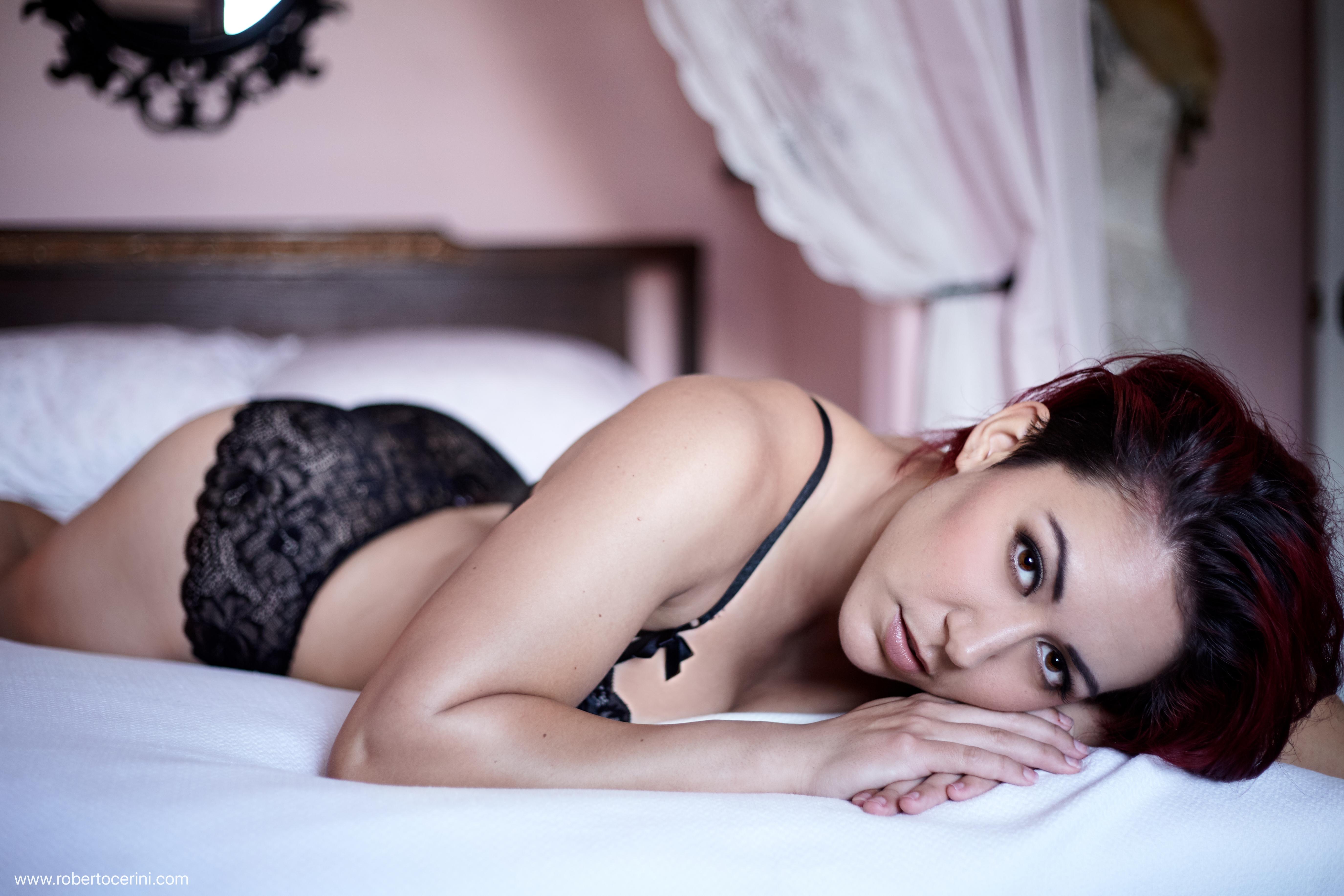 Boudoir lingerie bed model