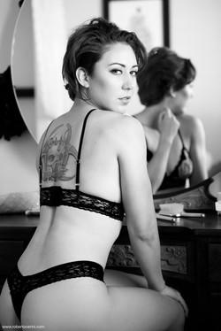 Mirror boudoir lingerie