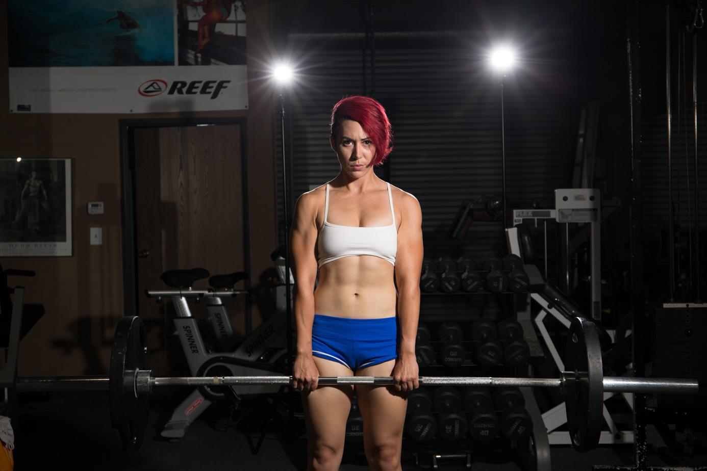 Fitness Model Barbell Deadlift