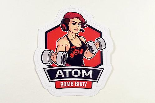 Atom Bomb Body Sticker (Old Logo)