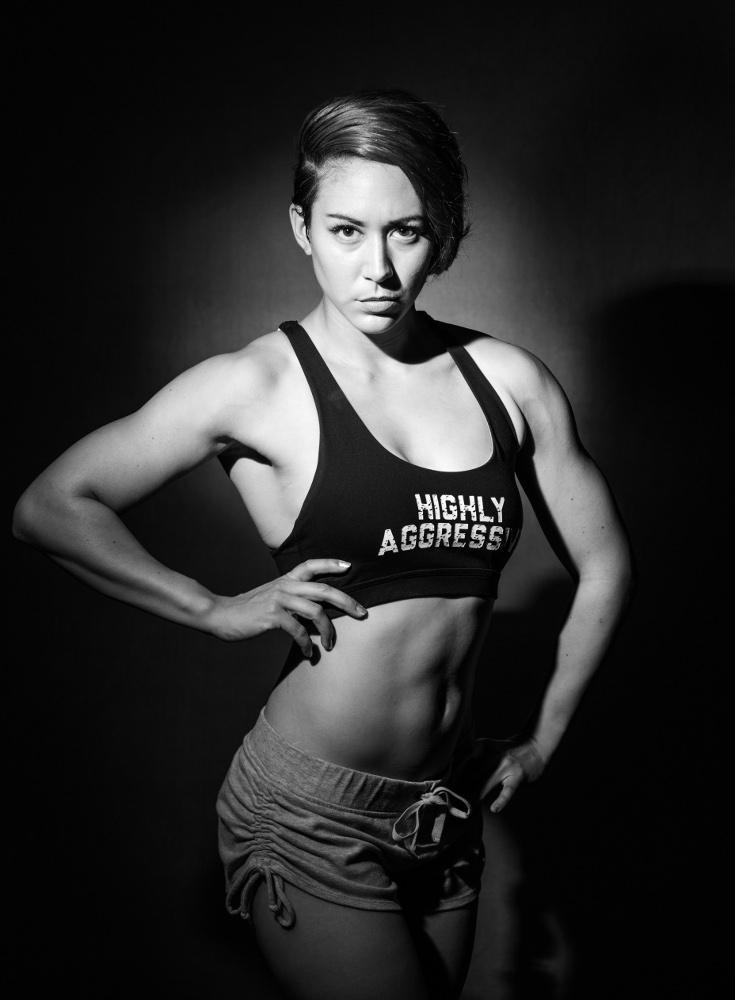 Fitness Model Black and White
