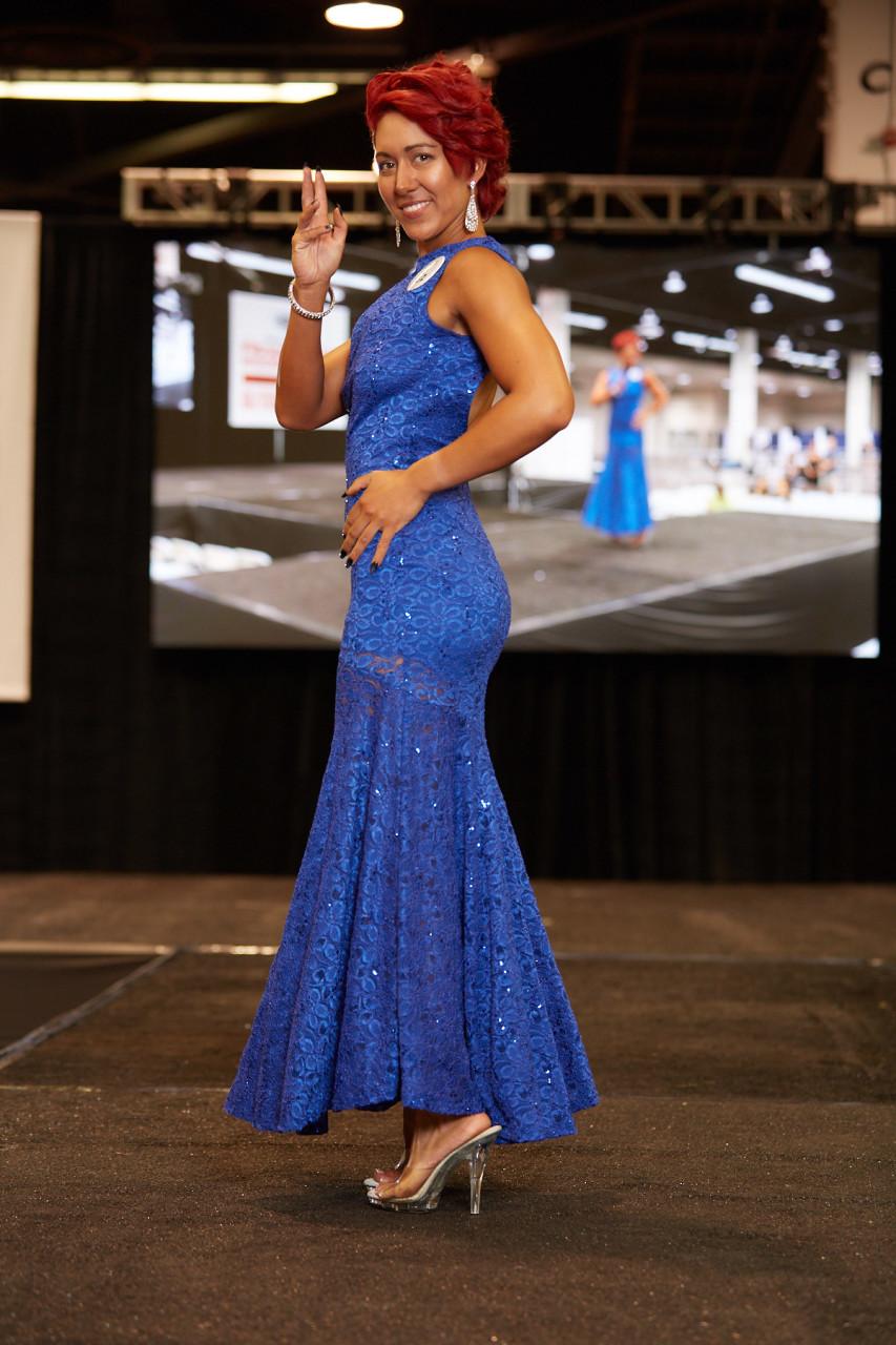 Fit Expo Model Search Evening gown