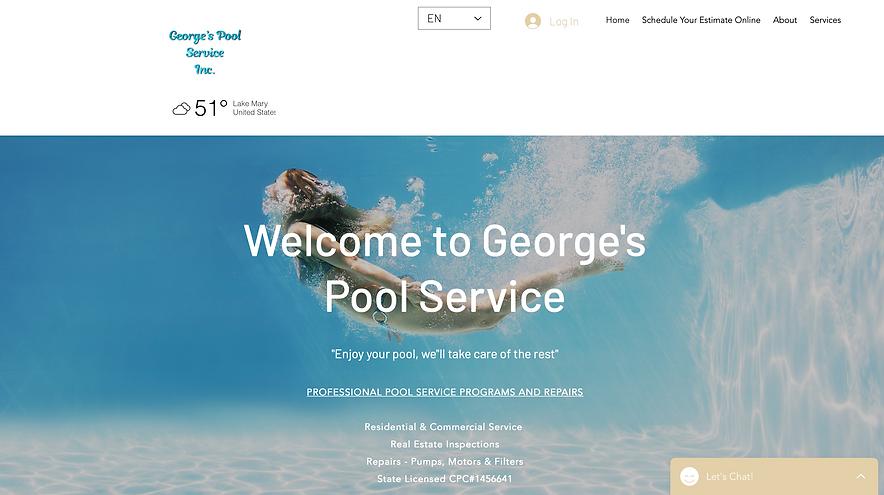 George's Pool Service Hotline