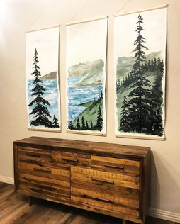 Custom Acrylic Bedroom Mural