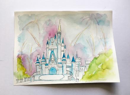 Disney World Watercolor