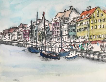 Custom Watercolor Painting of Europe