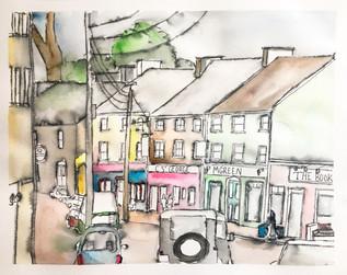 Custom Watercolor Painting of Ireland