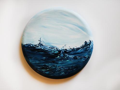 15x15 Acrylic Wave on Canvas