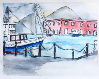 Custom Watercolor Painting of Venice