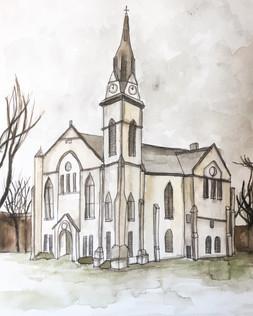 Custom Watercolor Painting of Drury Stone Chapel