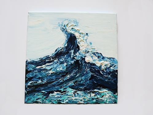 12x12 Acrylic Wave on Canvas