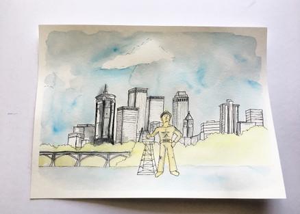 Tulsa, Oklahoma Watercolor