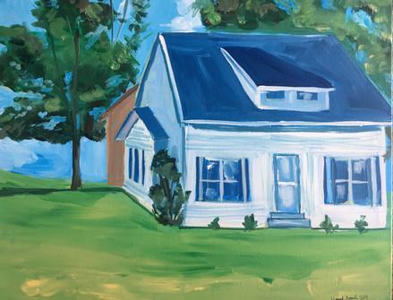 Acrylic Home Portrait