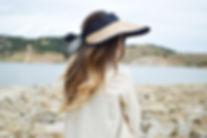A Woman Wearing a Sun Hat