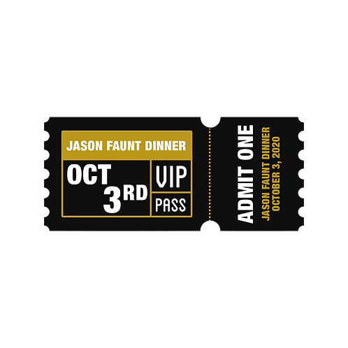 VIP Dinner with Jason Faunt (10/3/20) 5:30pm-8pm
