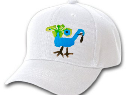Peacock White Cap