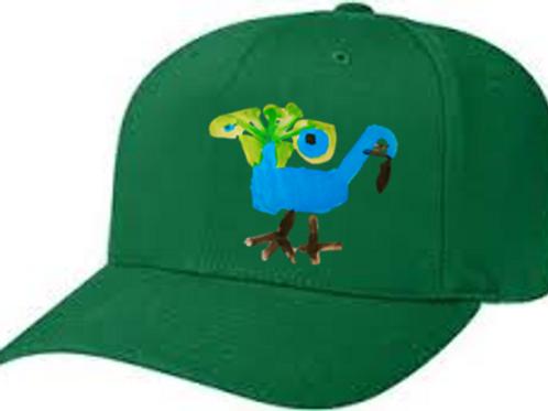 Peacock Green Cap