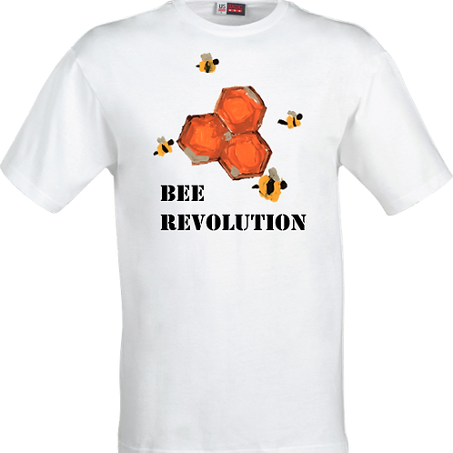 Bee Revolution White Tshirt