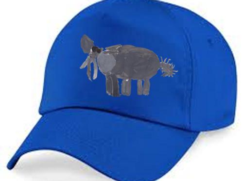 Elephant Blue Cap