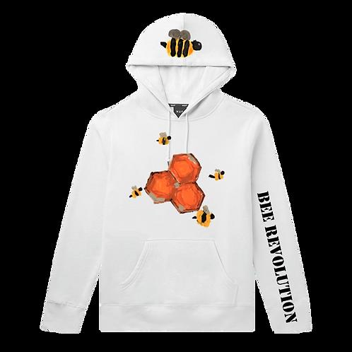 Bee Revolution White Hoodie