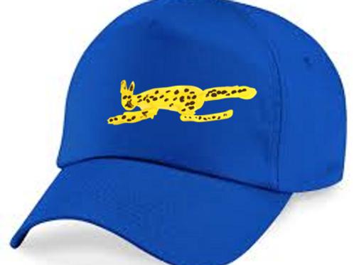 Cheetah Blue Cap