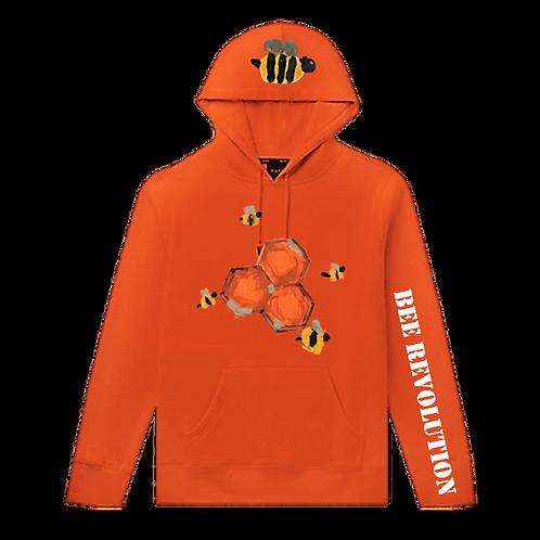 Bee Revolution Orange Hoodie