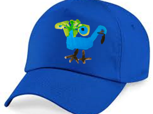 Peacock Blue Cap