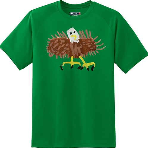 Bald Eagle Green T-Shirt