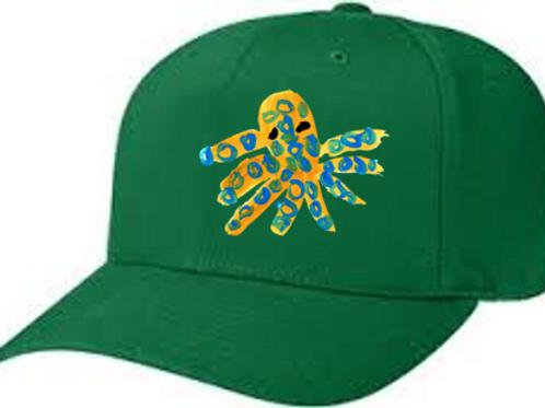 Octopus Green Cap