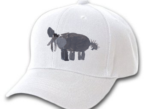 Elephant White Cap