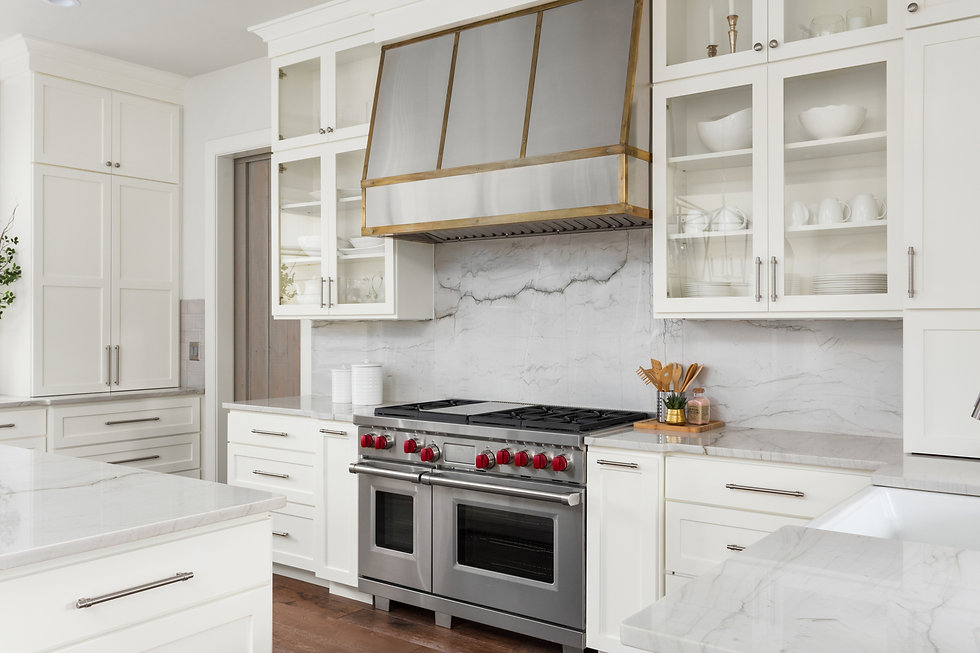 White Kitchen Detail in New Luxury Home_