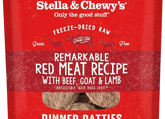 Stella & Chewys Dog Freeze Dried Dinner Red Meat 14 oz.