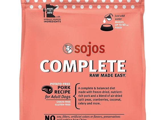 SOJOS DOG FREEZE-DRIED COMPLETE ADULT PORK 7LB