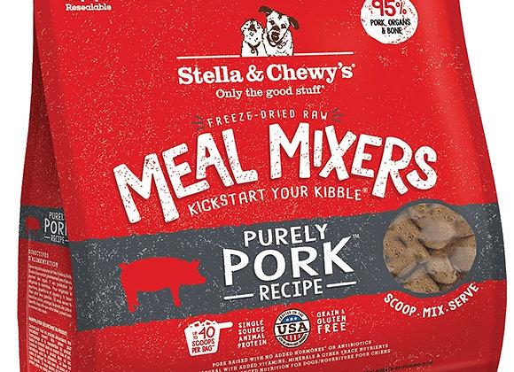 STELLA & CHEWY'S DOG FREEZE-DRIED MEAL MIXER PORK 18OZ