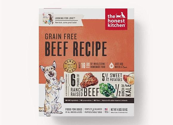 Honest Kitchen  Dog Grain Free Beef  4 Lbs. Box