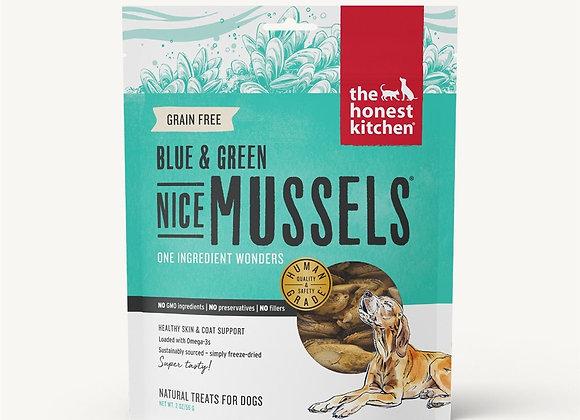 Honest Kitchen  Dog Freeze Dried Green Blue Mussels 2 oz.