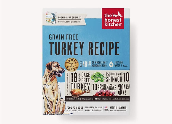 Honest Kitchen  Dog Grain Free Turkey 10 Lbs. Box