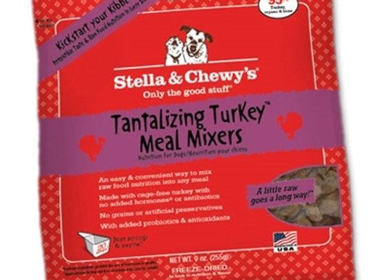 Stella & Chewys Freeze Dried Dog  Food-Mixers Turkey  9OZ