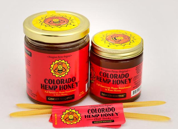 Colorado Hemp Honey, Ginger essential oil, with CBD, great supplement for both humans and dog