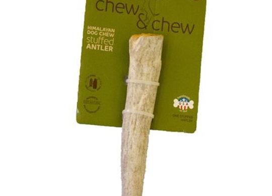 Himalayan Dog Chew    Antler Stuffed  Medium