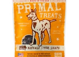 Primal Buffalo Liver Snaps Dry Roasted Dog Treats, 4.25-oz. bag