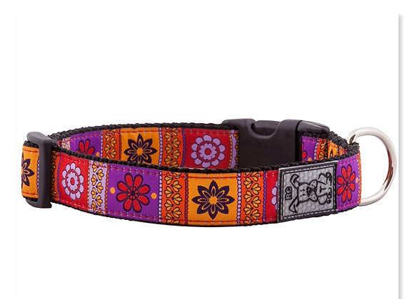 Dog Clip Collar RCPETS Trendy Mehndi clip on clip off, durable & reflective material