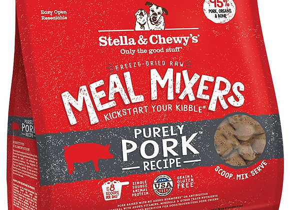 STELLA & CHEWY'S DOG FREEZE-DRIED MIXER PORK 3.5OZ