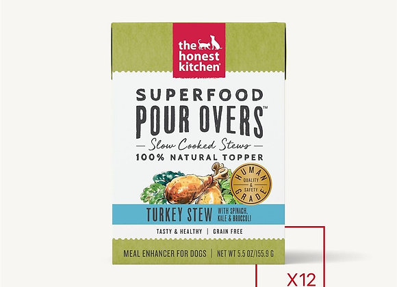 Honest Kitchen  Dog Pour Super Food  Turkey 5.5 oz.  (Case of 12)