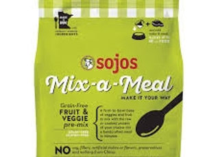 SOJOS DOG FREEZE-DRIED MIX-A-MEAL GRAIN FREE FRUIT & VEGETABLE 8LB