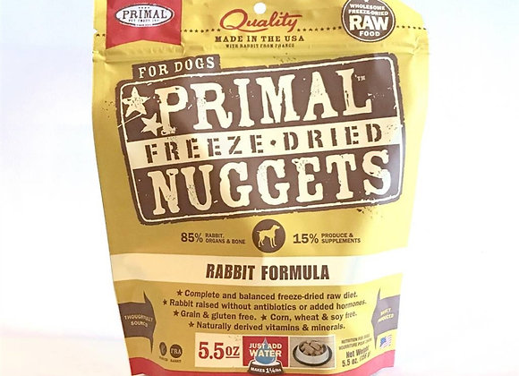 Primal Pet Foods Freeze Dried Food For Dogs 5.5oz Rabbit