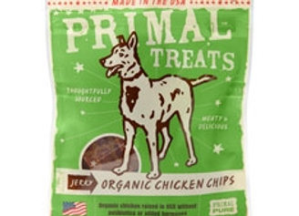 Primal Jerky Organic Chicken Chips Dog Treats, 3-oz. bag