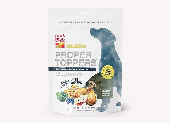 Honest Kitchen  Dog Proper Topper Grain Free Turkey 5.5 oz.