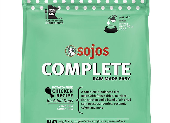 SOJOS DOG FREEZE-DRIED COMPLETE ADULT CHICKEN 7LB