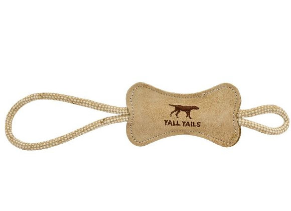 Tall Tails Leather Bone and Rope Toy